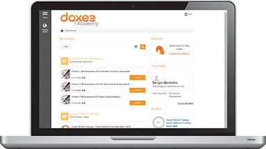 Un beneficio clave de la asociación con Doxee es Doxee Academy, que proporciona formación de clase mundial al Partner, tanto en entornos presenciales como a través del portal Doxee Academy, nuestro sistema de gestión de aprendizaje basado en la nube.